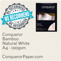 Paper Bamboo Natural White A4-210x297mm 100gsm