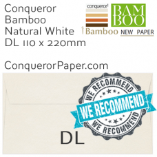 Envelopes Bamboo Natural White DL-110x220mm 120gsm