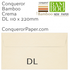 Envelopes Bamboo Crema DL-110x220mm 120gsm