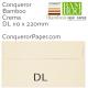 Envelopes Bamboo Crema DL-110x220mm 120gsm