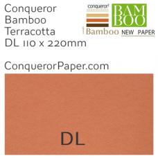 Envelopes Bamboo Terracotta DL-110x220mm 120gsm
