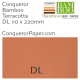 Envelopes Bamboo Terracotta DL-110x220mm 120gsm
