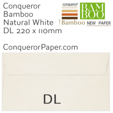 Envelopes Bamboo Natural White DL-220x110mm 120gsm