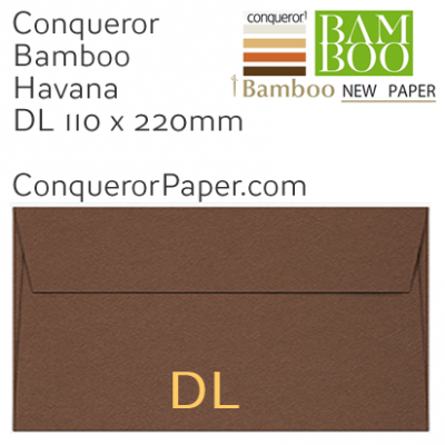 Envelopes Bamboo Havana DL-110x220mm 120gsm