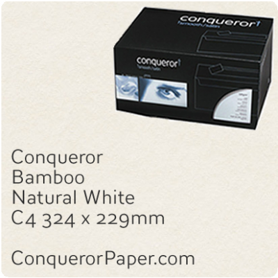 Envelopes Bamboo Natural White C4-324x229mm 120gsm