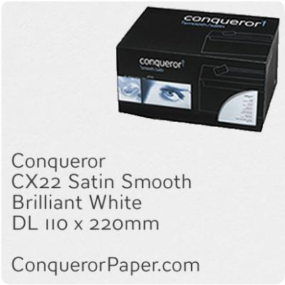 Envelopes CX22 Brilliant White DL-110x220mm 120gsm