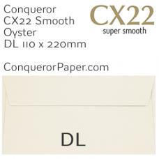 Envelopes CX22 Oyster DL-110x220mm 120gsm