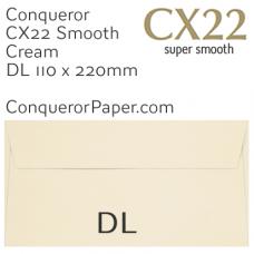Envelopes CX22 Cream DL-110x220mm 120gsm
