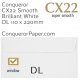 Envelopes CX22 Brilliant White Window DL-110x220mm 120gsm