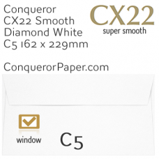 Envelopes CX22 Diamond White Window C5-162x229mm 120gsm