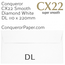 Envelopes CX22 Diamond White DL-110x220mm 120gsm