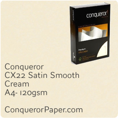 Paper CX22 Cream A4-210x297mm 120gsm