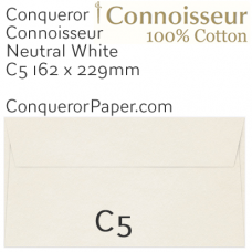 Envelopes Connoisseur Natural White C5-162x229mm 120gsm