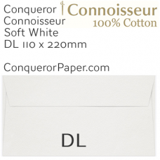 Envelopes Connoisseur Soft White DL-110x220mm 120gsm