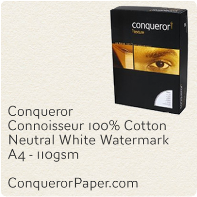 Paper Connoisseur Natural White A4-210x297mm 110gsm