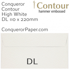 Envelopes Contour High White DL-110x220mm 120gsm