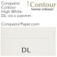 Envelopes Contour High White DL-110x220mm 120gsm