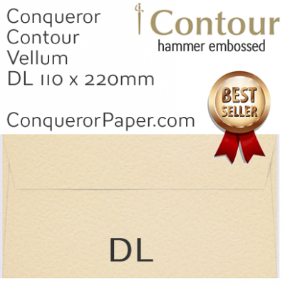Envelopes Contour Vellum DL-110x220mm 120gsm
