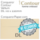 Envelopes Contour Vellum DL-110x220mm 120gsm