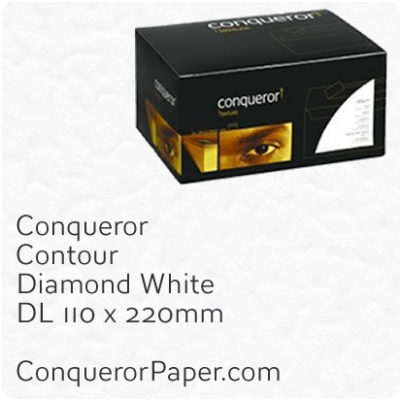 Envelopes Contour Diamond White DL-110x220mm 120gsm