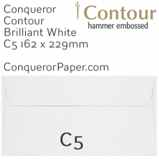 Envelopes Contour Brilliant White C5-162x229mm 120gsm
