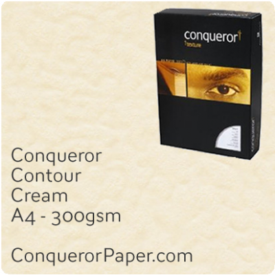 Paper Contour Cream A4 210 x 297mm 300gsm