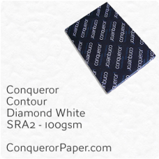 Paper Contour Diamond White SRA2-450x640mm 100gsm
