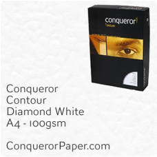 Paper Contour Diamond White A4-210x297mm 100gsm
