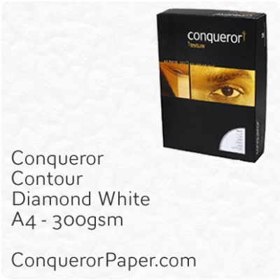 Paper Contour Diamond White A4 210 x 297mm 300gsm
