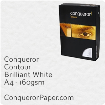 Paper Contour Brilliant White A4 - 210 x 297mm 160gsm
