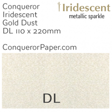 Envelopes Iridescent Gold Dust DL-110x220mm 120gsm