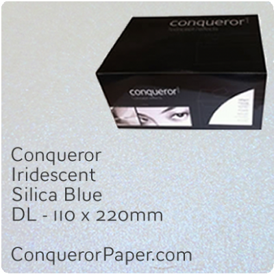 Envelopes Iridescent Silica Blue DL-110x220mm 120gsm