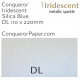 Envelopes Iridescent Silica Blue DL-110x220mm 120gsm