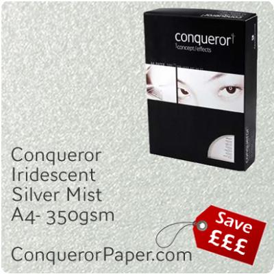 Paper Iridescent Silver Mist A4-210x297mm 350gsm