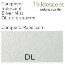 Envelopes Iridescent Silver Mist DL-110x220mm 120gsm