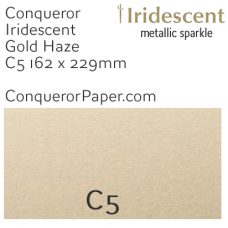 Envelopes Iridescent Gold Haze C5-162x229mm 120gsm