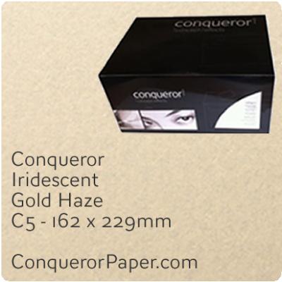 Envelopes Iridescent Gold Haze C5-162x229mm 120gsm