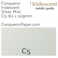 Envelopes Iridescent Silver Mist C5-162x229mm 120gsm