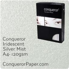 Paper Iridescent Silver Mist A4-210x297mm 120gsm