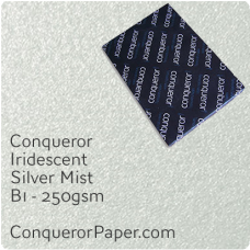 Paper Iridescent Silver Mist B1-700x1000mm 250gsm