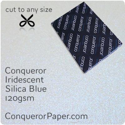 Paper Iridescent Silica Blue B1-700x1000mm 120gsm