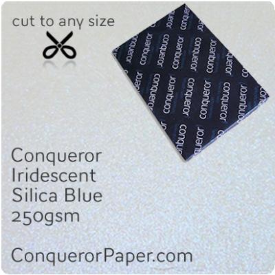 Paper Iridescent Silica Blue B1-700x1000mm 250gsm
