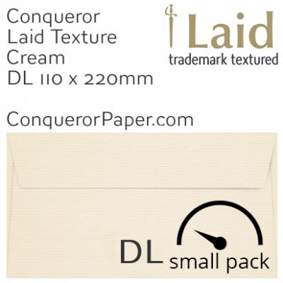 Envelopes Laid Cream DL-110x220mm 120gsm 50 Pack