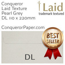 Envelopes Laid Pearl Grey DL-110x220mm 120gsm