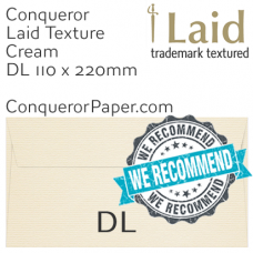Envelopes Laid Cream DL-110x220mm 120gsm