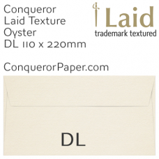 Envelopes Laid Oyster DL-110x220mm 120gsm