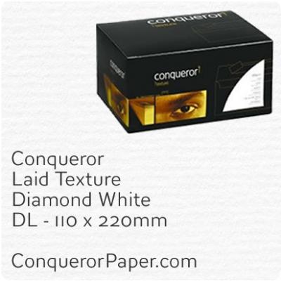 Envelopes Laid Diamond White DL-110x220mm 120gsm