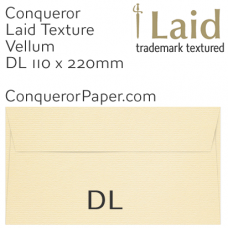 Envelopes Laid Vellum DL-110x220mm 120gsm