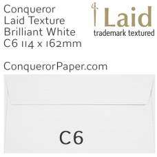 Envelopes Laid Brilliant White C6-114x162mm 120gsm