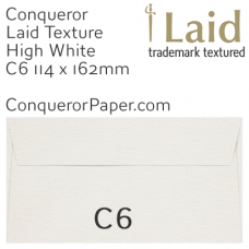 Envelopes Laid High White C6-114x162mm 120gsm